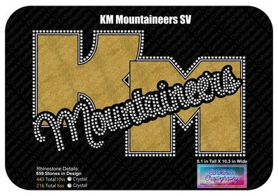 KM Mountaineers Rhinestone Vinyl Shirt (Black)