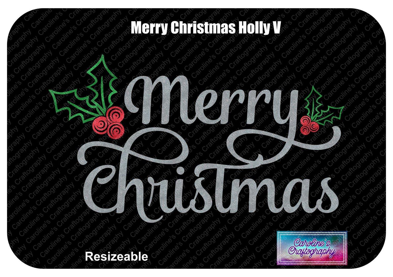 Merry Christmas Holly Vinyl