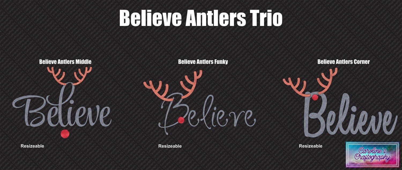 Believe Antlers Red Nose Vinyl Trio