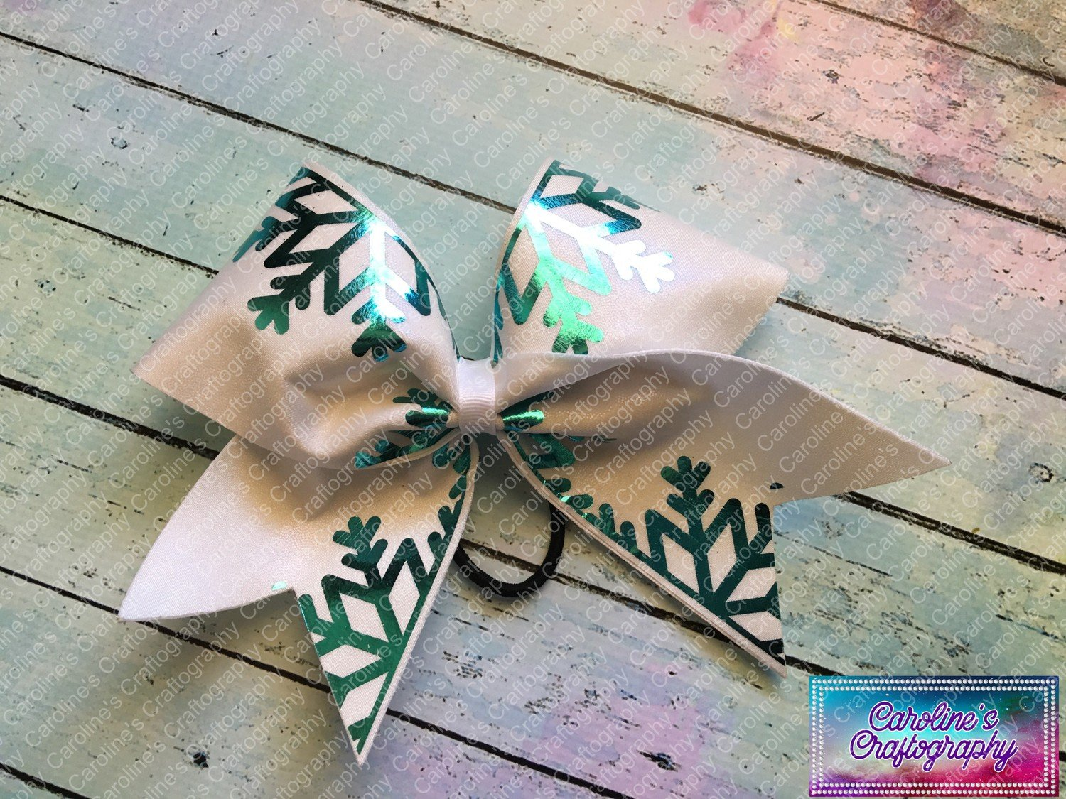 Snowflake Cheer Bow  **RTS**