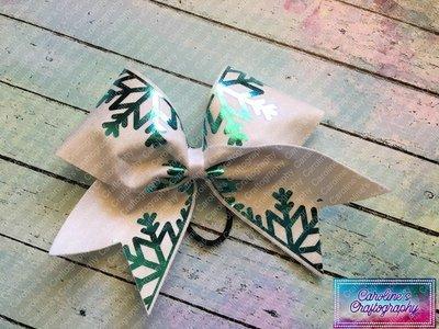 Snowflake Cheer Bow  **RTS**