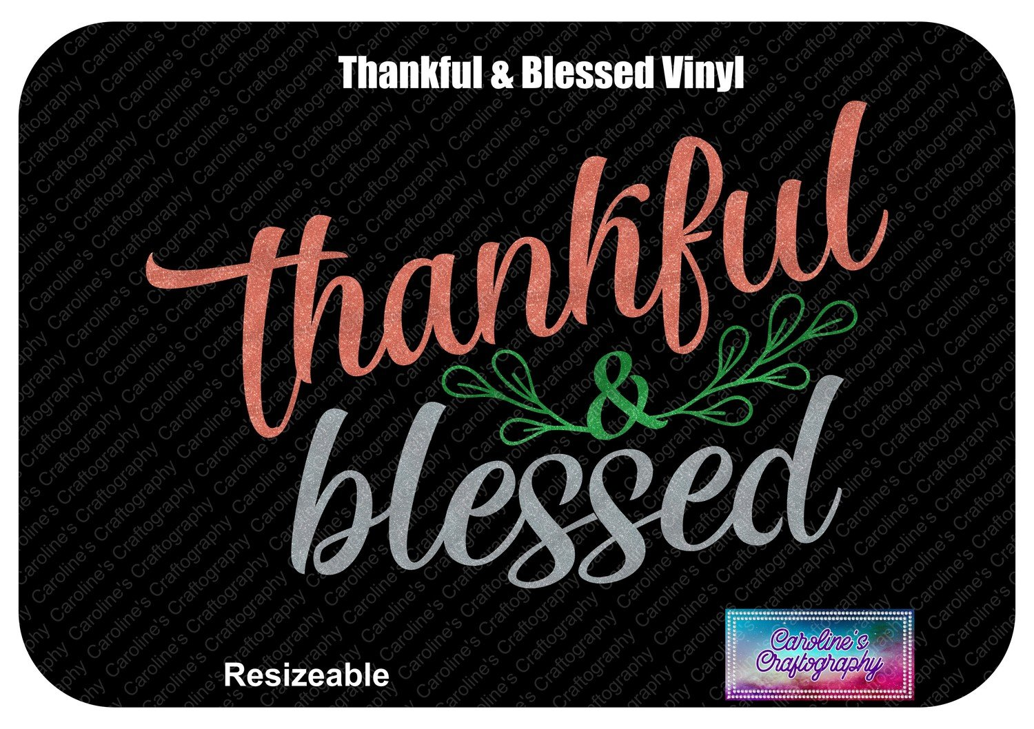 Thankful & Blessed Sprig Vinyl