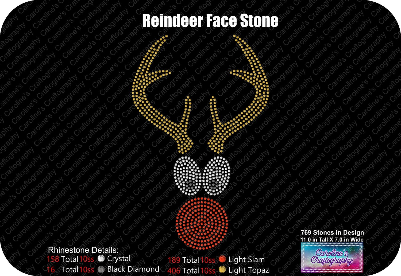 Reindeer Face Stone