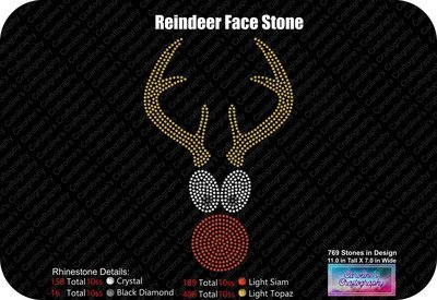 Reindeer Face Stone