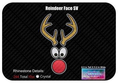 Reindeer Face Stone Vinyl