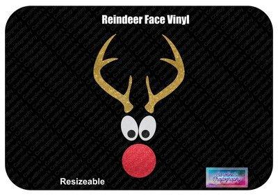 Reindeer Face Vinyl