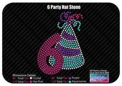 Party Hat Number 6 Stone