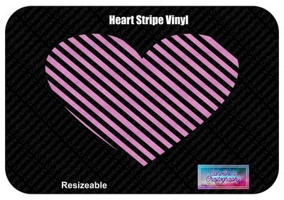 Heart Stripe Vinyl