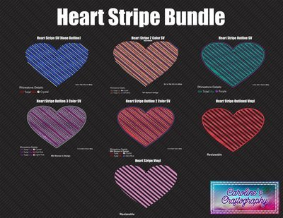 Heart Striped Bundle