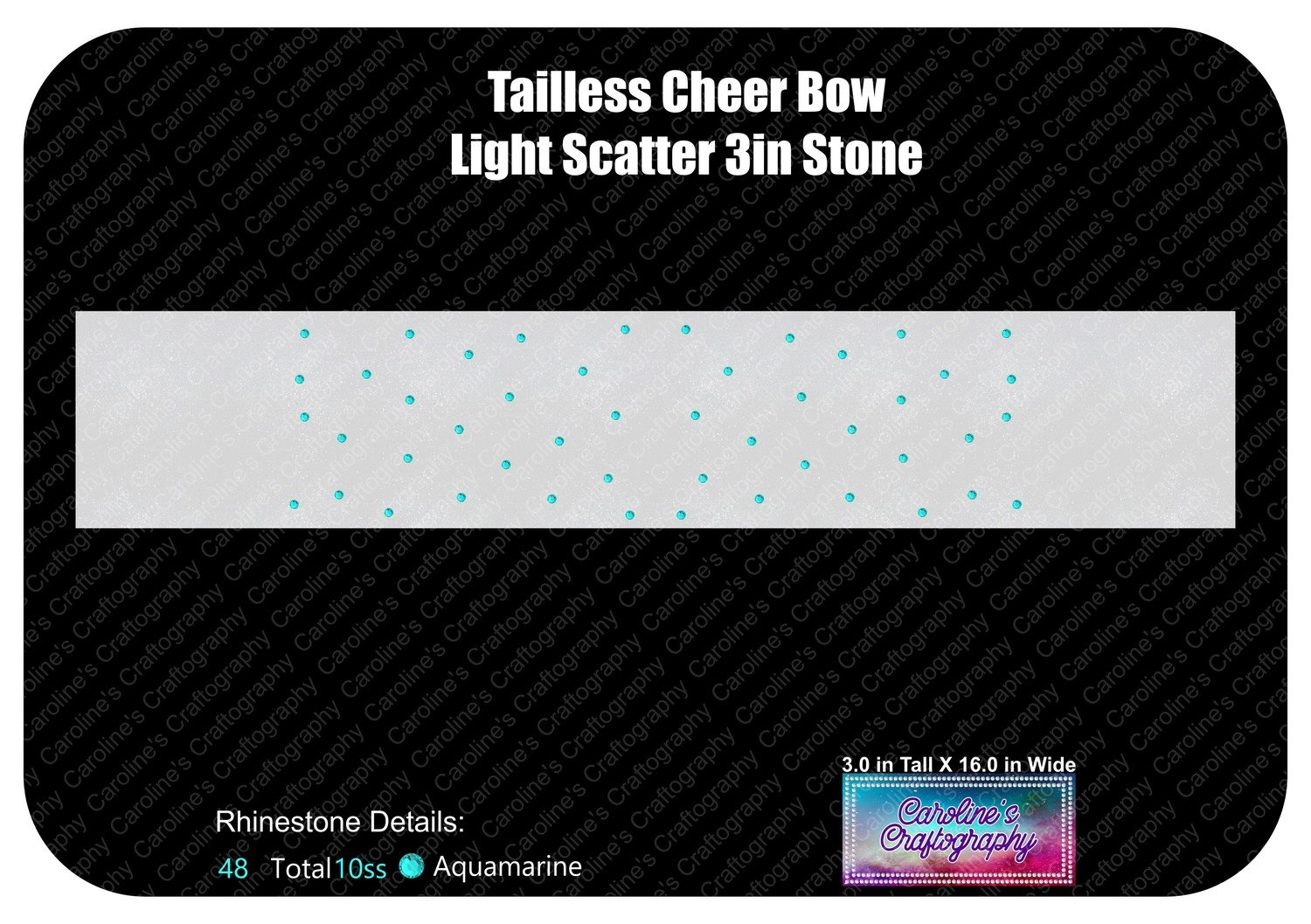 Tailless Cheer Bow Light Scatter 3in Stone