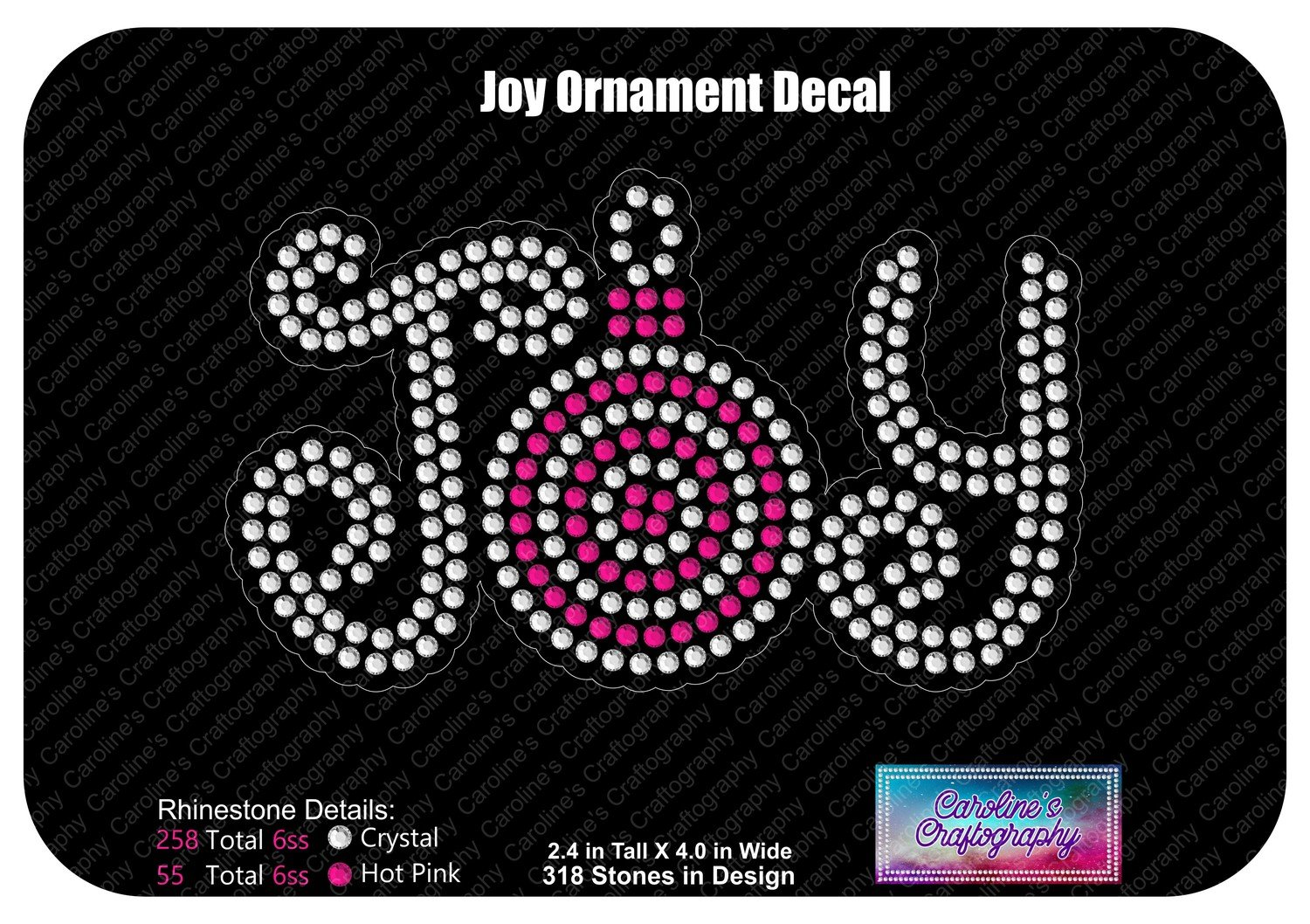 Joy Ornament Decal