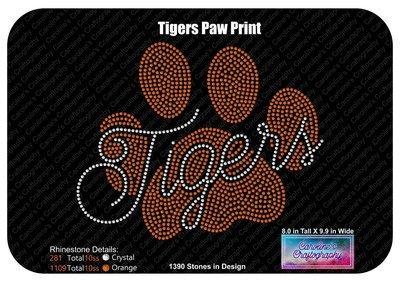 Tigers Paw Print Stone
