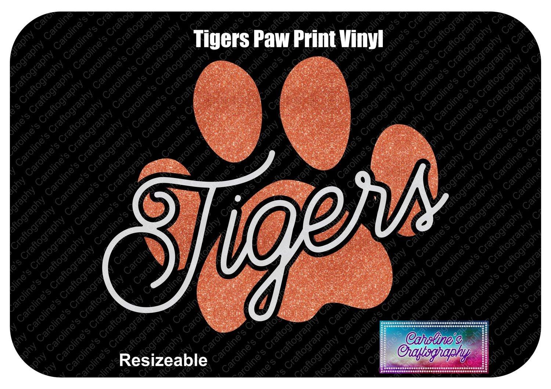 Tigers Paw Print Vinyl