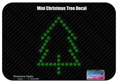 Mini Christmas Tree Decal