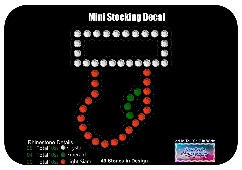 Mini Stocking Decal