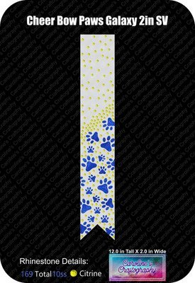 Paws Galaxy 2in Cheer Bow Stone Vinyl