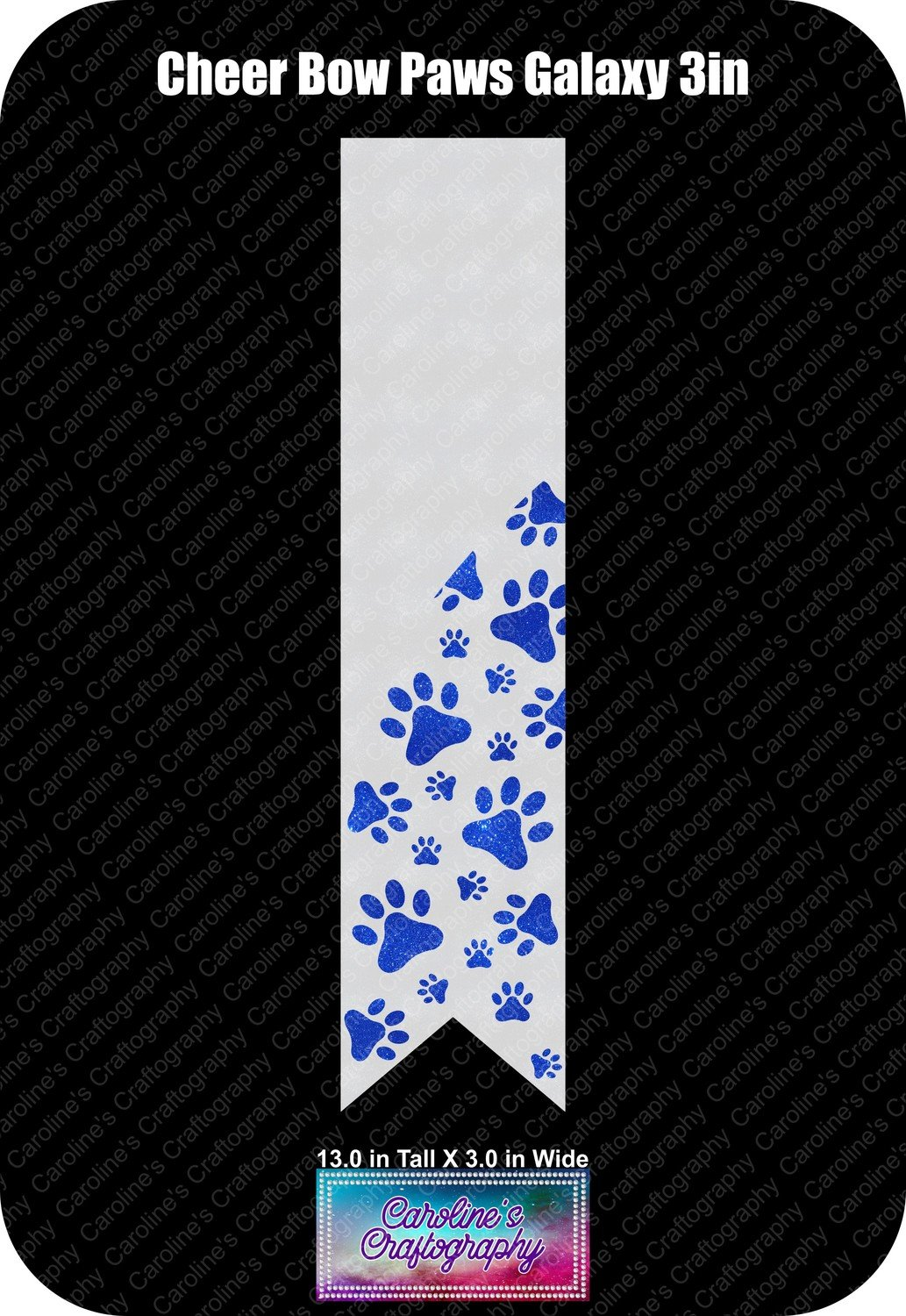 Paws Galaxy 3in Cheer Bow Vinyl