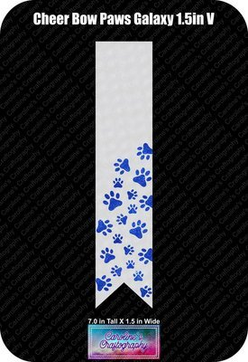 Paws Galaxy 1.5in Cheer Bow Vinyl