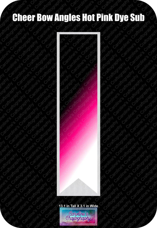 Angles Dye Sub Hot Pink Cheer Bow