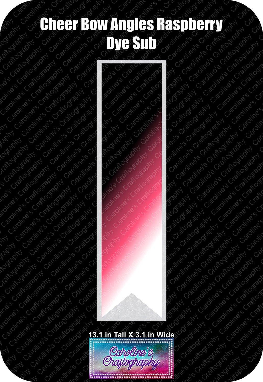 Angles Dye Sub Raspberry Cheer Bow