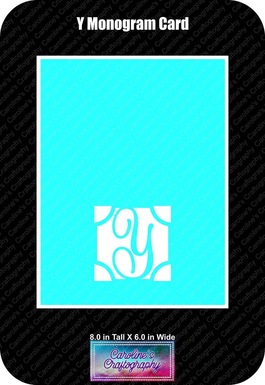 Y Monogram Card Base