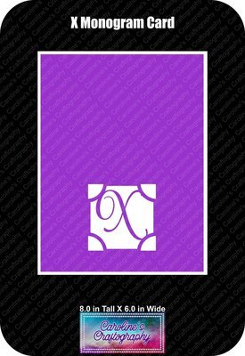 X Monogram Card Base