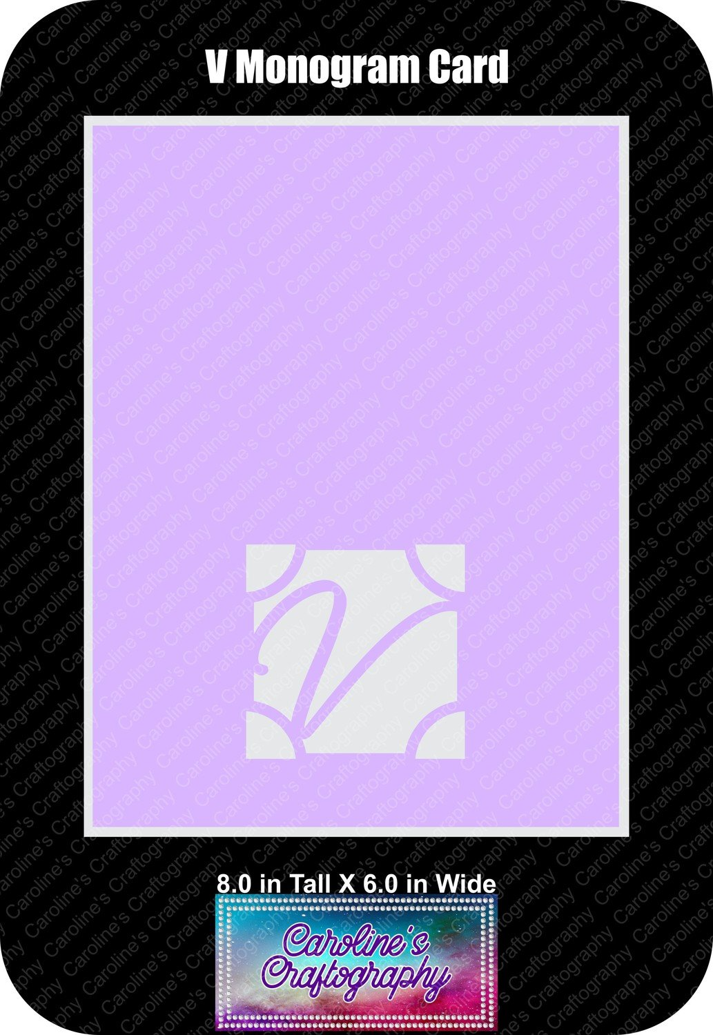 V Monogram Card Base