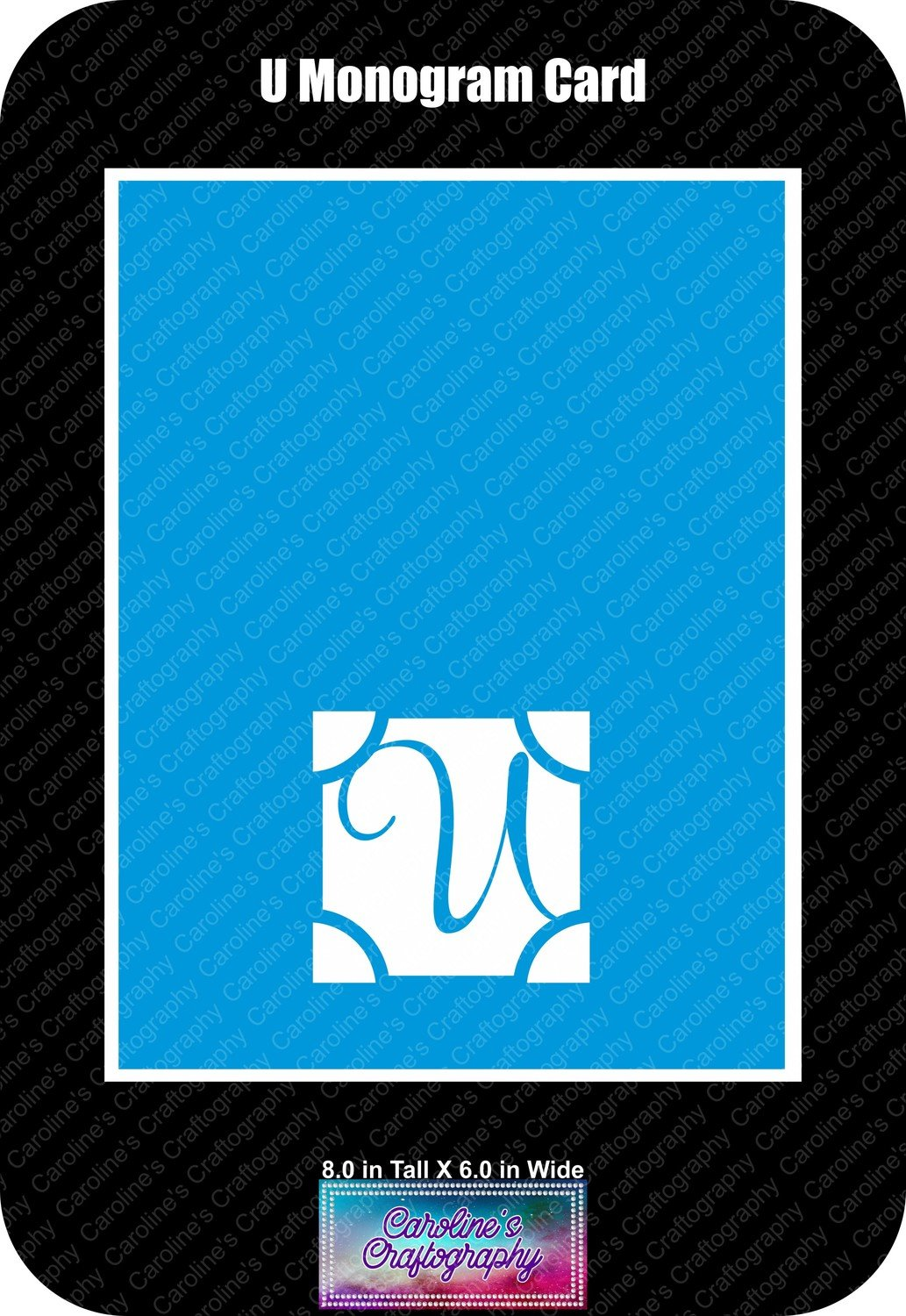 U Monogram Card Base