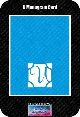 U Monogram Card Base