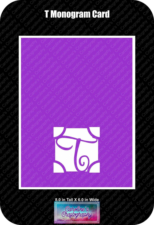 T Monogram Card Base