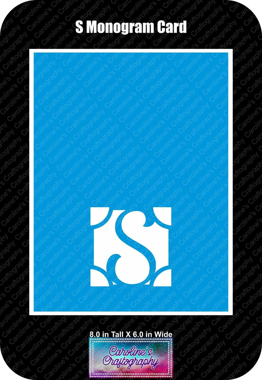 S Monogram Card Base