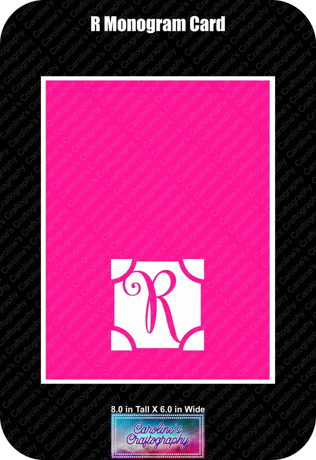 R Monogram Card Base