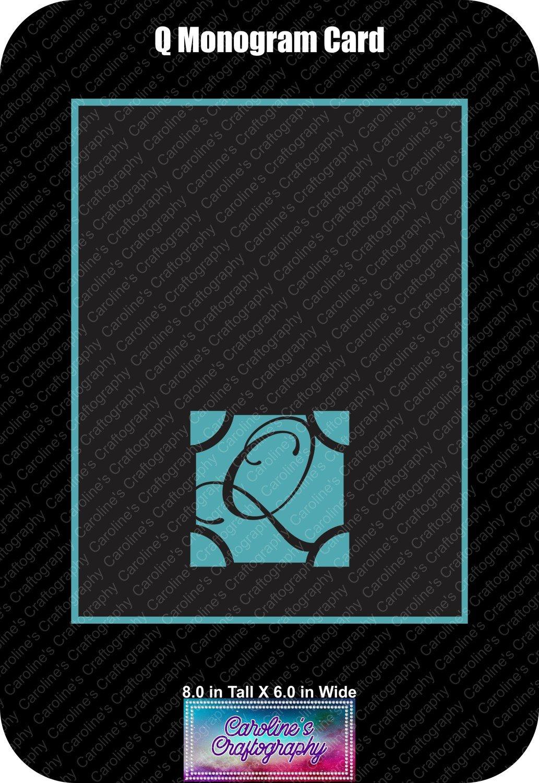 Q Monogram Card Base