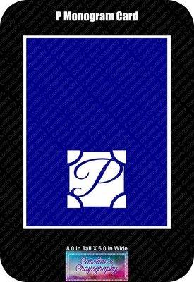 P Monogram Card Base
