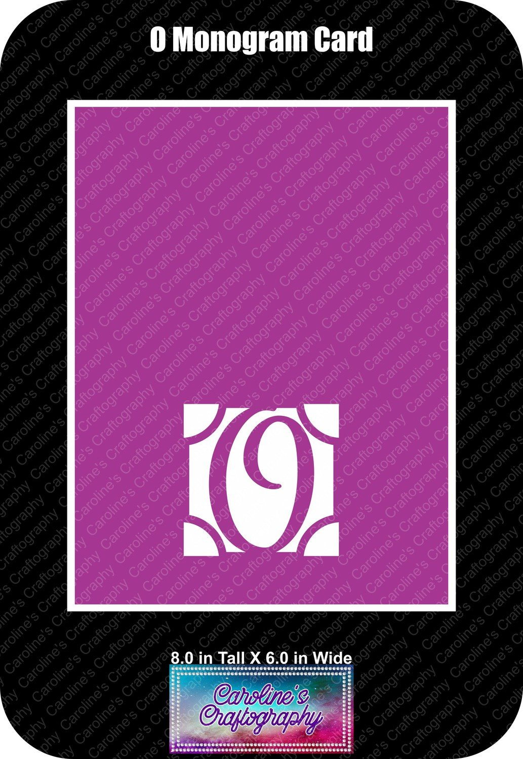 O Monogram Card Base