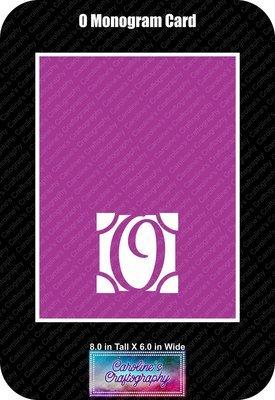 O Monogram Card Base