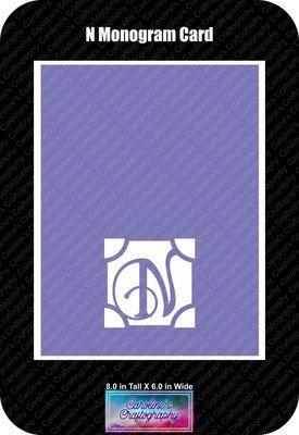 N Monogram Card Base