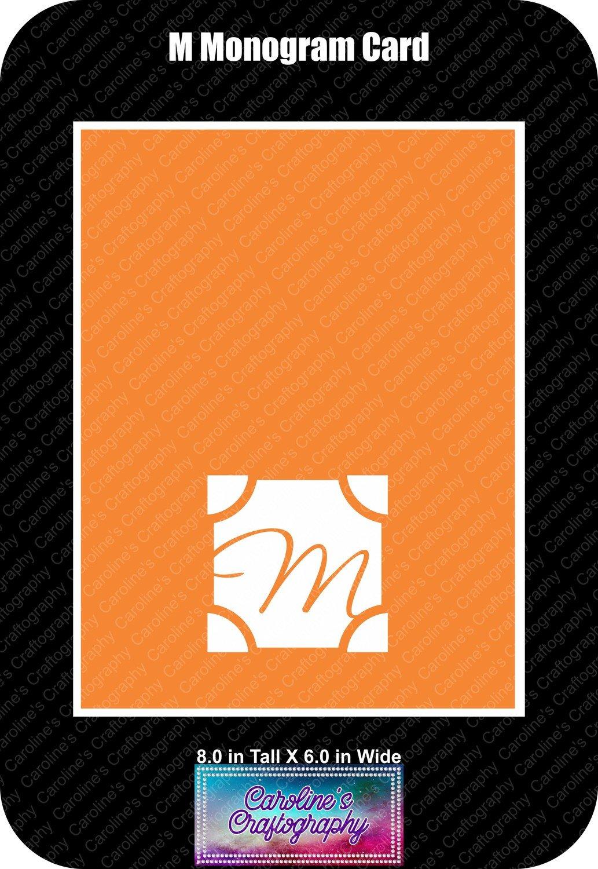 M Monogram Card Base