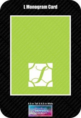 L Monogram Card Base
