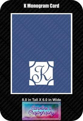 K Monogram Card Base