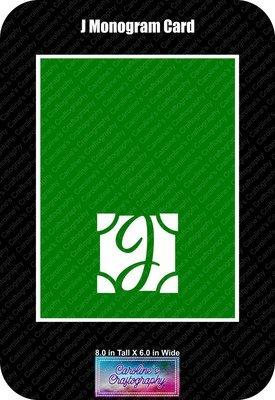J Monogram Card Base