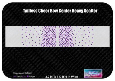 Tailless Cheer Bow Center Heavy Scatter