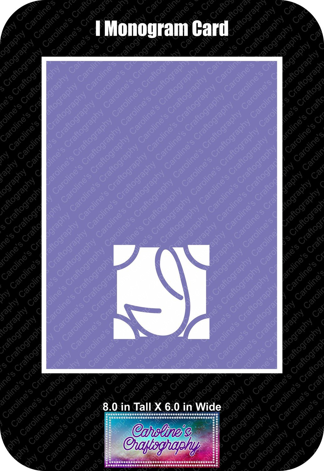 I Monogram Card Base