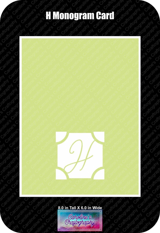 H Monogram Card Base