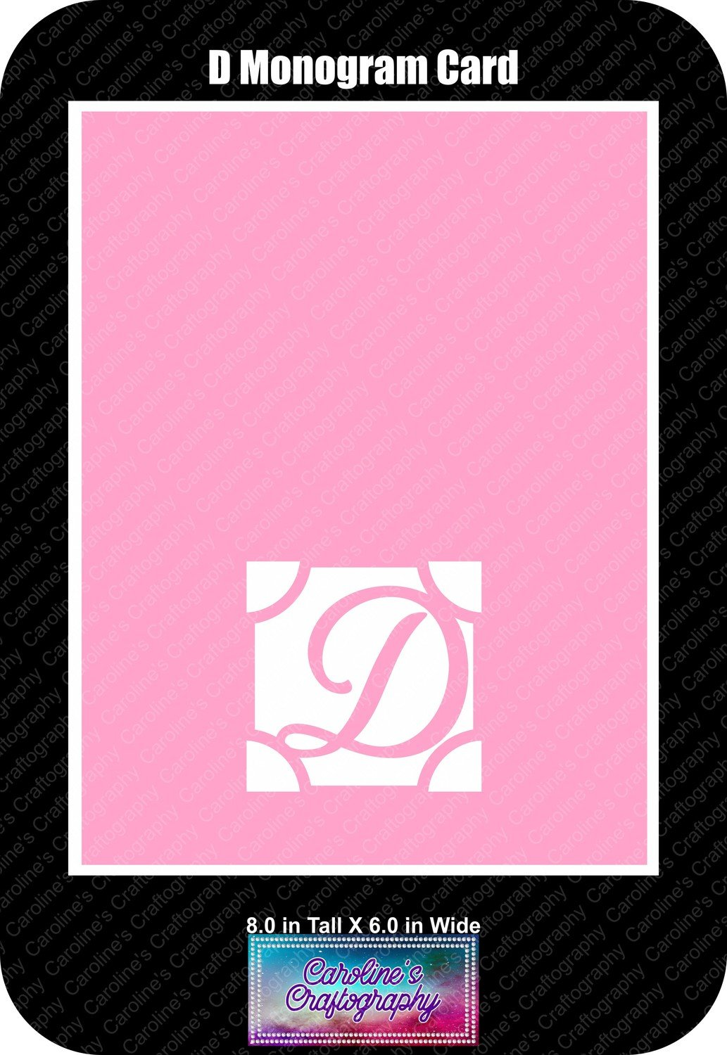 D Monogram Card Base