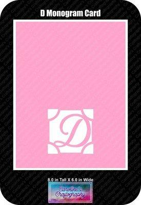 D Monogram Card Base