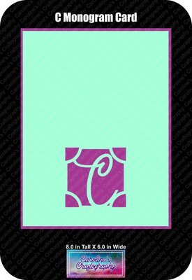 C Monogram Card Base