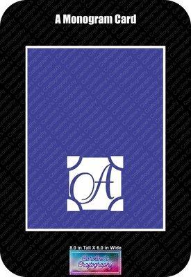 A Monogram Card Base
