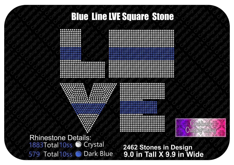 Blue Line Square LVE Stone
