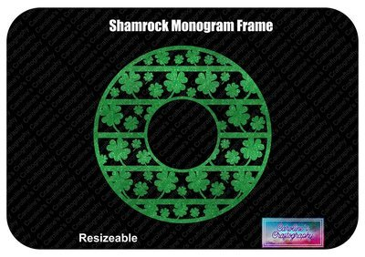 Shamrock Monogram Frame 1 Color Vinyl